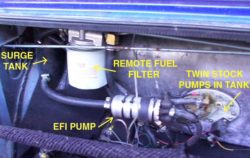Inline Surge Tank : Fuel pump upgrades